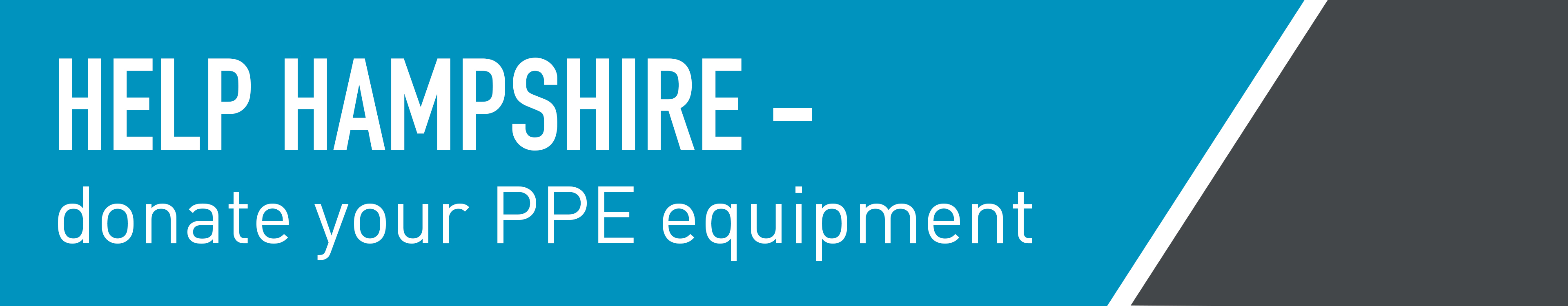 Help Hampshire - donate your PPE equipment